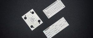 Alu-Typenschilder von Marahrens, digital gedruckt